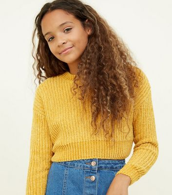 Girls Mustard Chenille Jumper