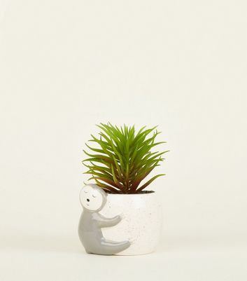 White Sloth Plant Pot