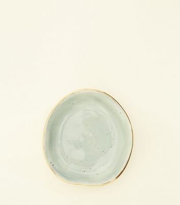 Mint Green Speckled Ceramic Trinket Tray