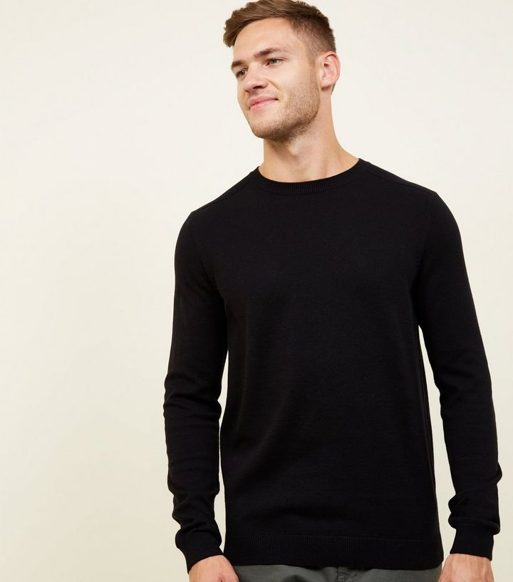 b5974f303bd Black Crew Neck Jumper Add to Saved Items Remove from Saved Items