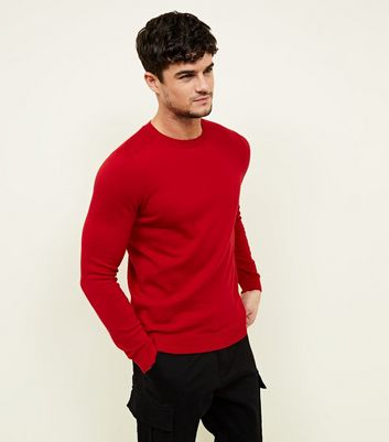 Red Crew Neck Jumper
