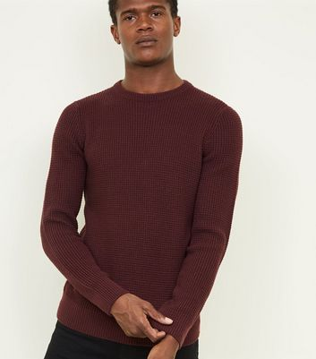 Burgundy Tuck Stitch Jumper