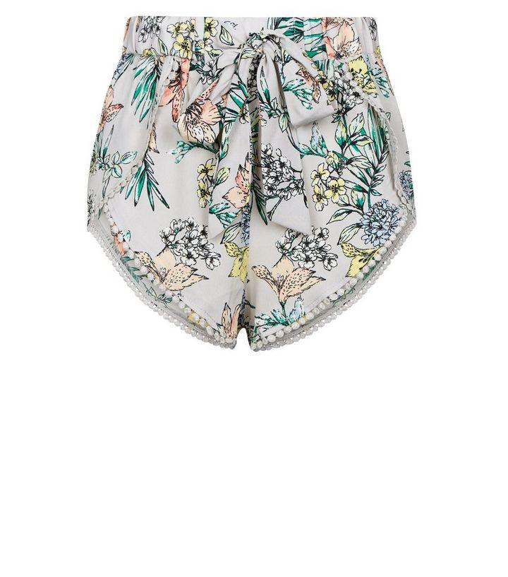 def5b6998a ... Womens Clothing · Shorts · Silver Tropical Pom Pom Beach Shorts. ×. ×.  ×. Shop the look
