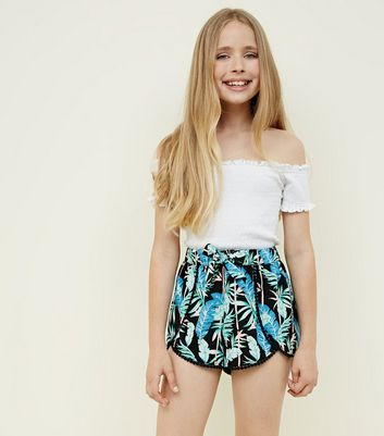 2b04a2995b Shoptagr | Girls Black Tropical Beach Shorts by New Look