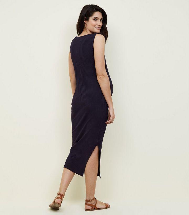 e1c3a23120ecb ... Maternity Navy Ribbed Jersey Sleeveless Maxi Dress. ×. ×. ×. Shop the  look