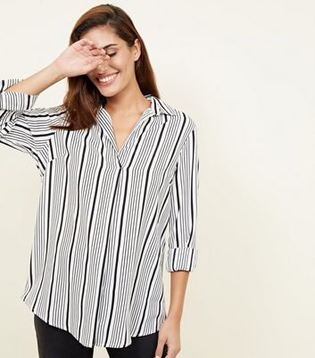 Monochrome Stripe Long Sleeve Shirt