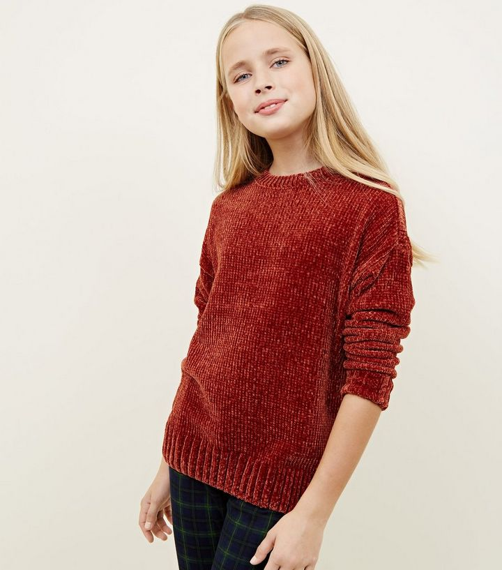 a0a9b9ee38e Girls Rust Chenille Slouchy Jumper Add to Saved Items Remove from Saved  Items