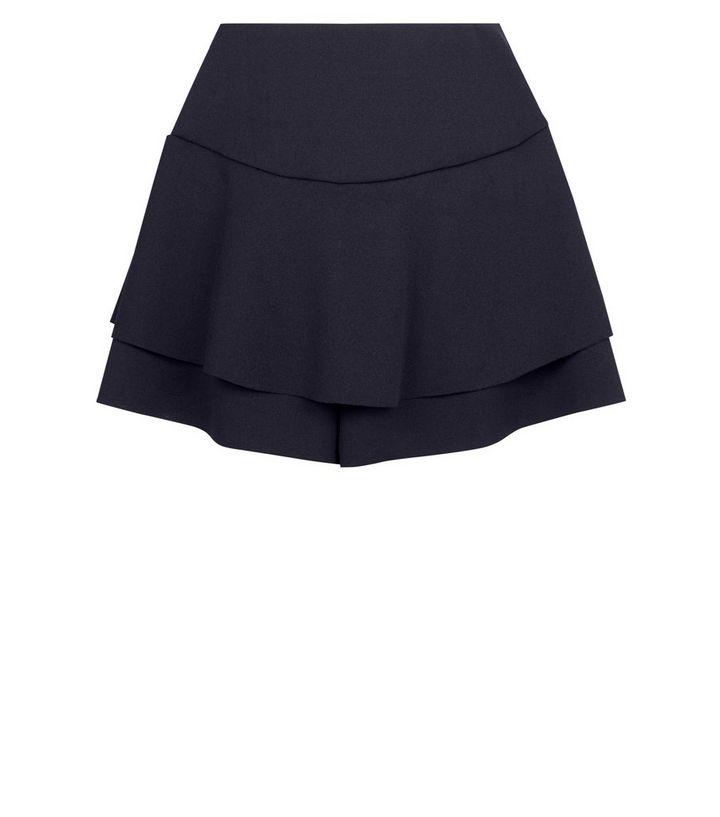 Girls Black Frill Skort | New Look