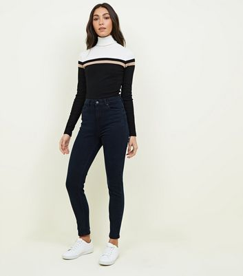 Navy High Rise Super Skinny Dahlia Jeans