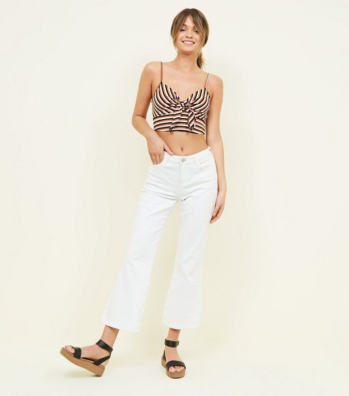 b458dc74edf ... Brown Stripe Knot Front Crop Top. ×. ×. ×. Shop the look