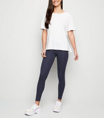Navy Ankle Grazer Leggings