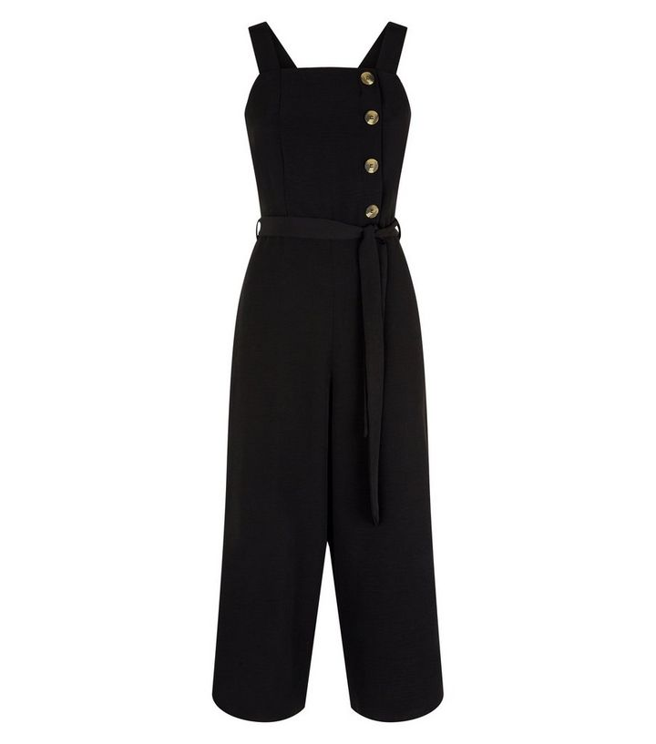 69491b3bf66 Black Asymmetric Button Front Jumpsuit Add to Saved Items Remove from Saved  Items