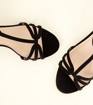 f7f4101a4 Wide Fit Black Comfort Flex Suedette Strappy Kitten Heels New Look - New  Look at Westquay - Shop Online