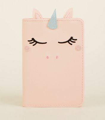 P Ink Unicorn Passport Holder by New Look
