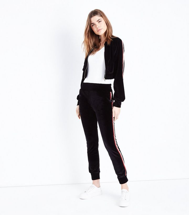 Blue Vanilla Black Stripe Side Velour Tracksuit  e1ba4e5e7ace