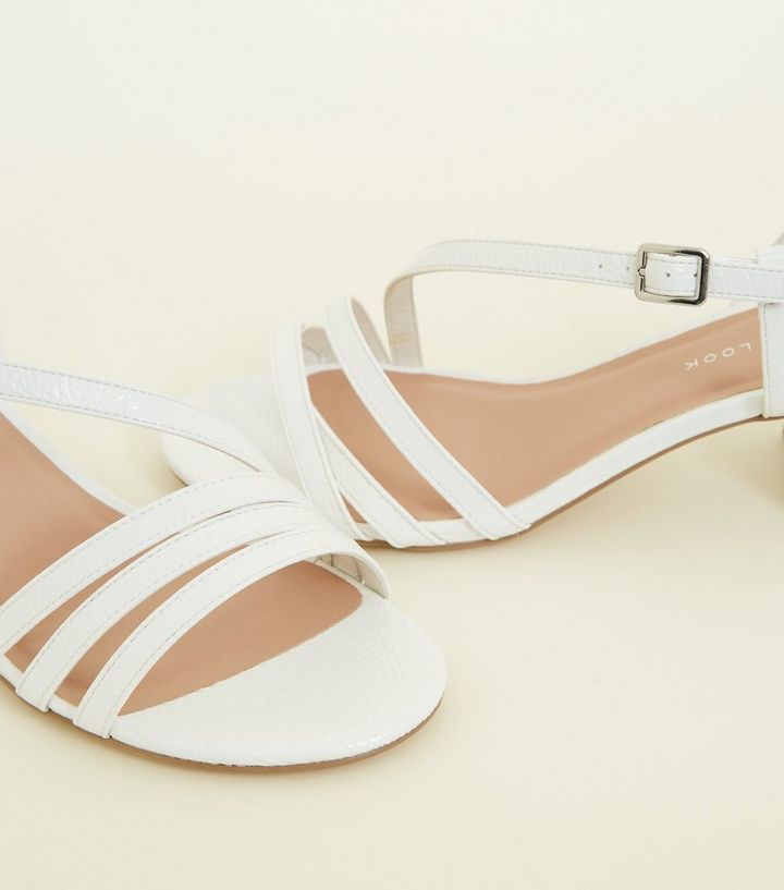 8f0a3d880a5b ... Wide Fit White Patent Crinkle Low Heel Sandals. ×. ×. ×. Shop the look