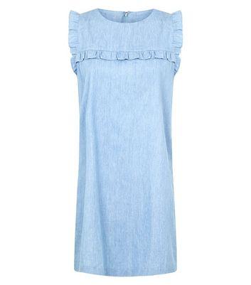 Apricot Bright Blue Frill Trim Shift Dress New Look