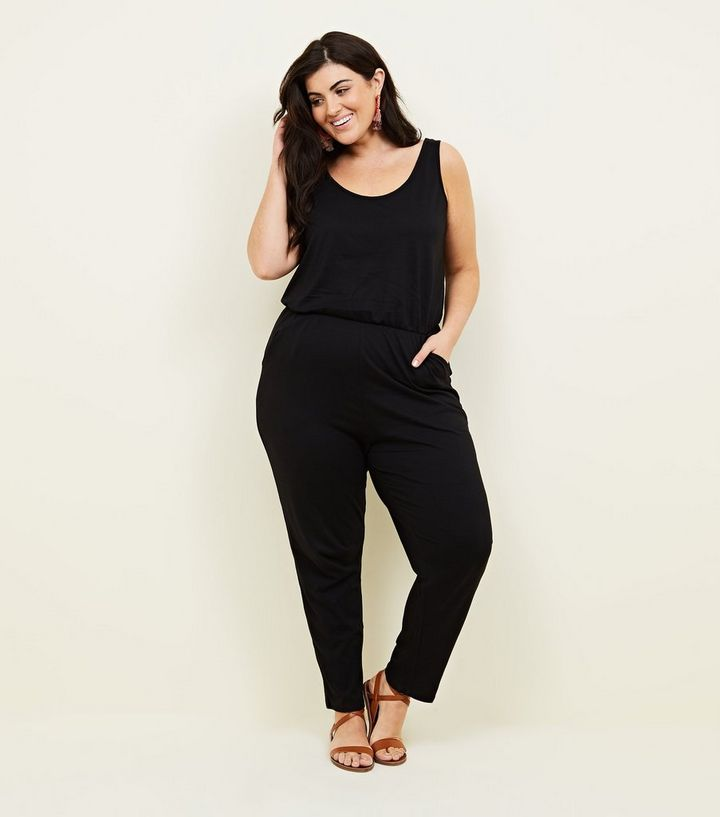 24f0d128b94 Curves Black Jersey Sleeveless Jumpsuit