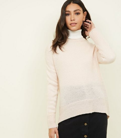 0ce0a620b8ce4 ... Pale Pink Drop Sleeve Jumper ...