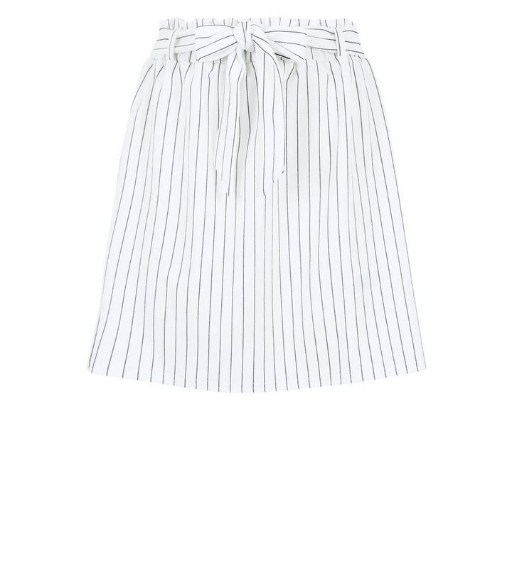 e211fa579c ... White Stripe Paperbag Waist Mini Skirt. ×. ×. ×. Shop the look