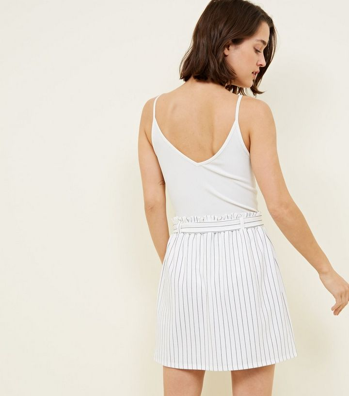 36b4c9bb22 ... Tall White Stripe Paperbag Waist Mini Skirt. ×. ×. ×. Shop the look