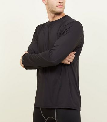 Black Long Sleeve Sports T-Shirt