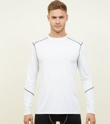 White Long Sleeve Sports T-Shirt