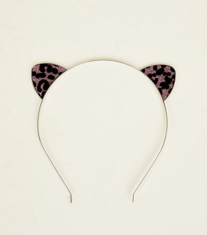 13db5c6f7ec5 Pink Glitter Leopard Print Cat Ears | New Look