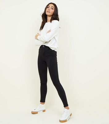 Black High Rise Super Skinny Dahlia Jeans