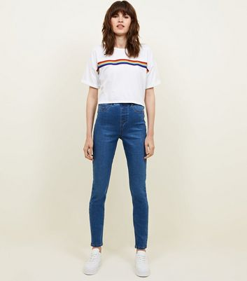 Tall Blue Mid Wash Jeggings