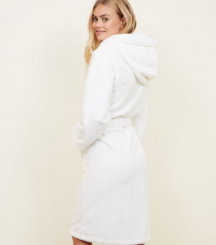 ... Off White Fluffy Hooded Dressing Gown. ×. ×. ×. Shop the look 1263d3cbf