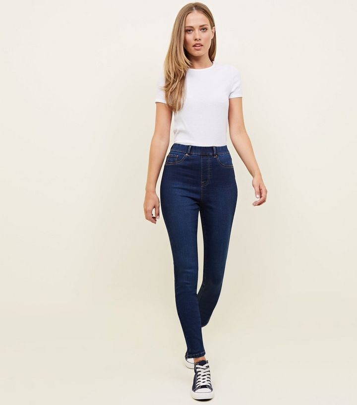 Tall Blue Rinse Wash Jeggings  8602c73f3e5