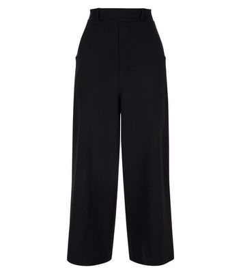 Cameo Rose Black Culottes New Look