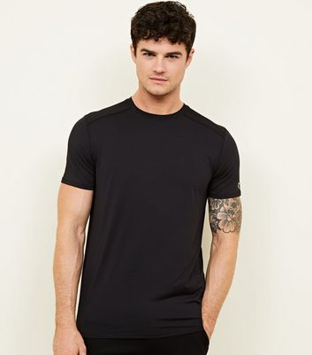 T-shirt de sport noir en stretch