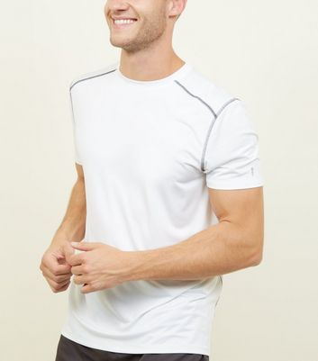 White Sports Stretch T-Shirt