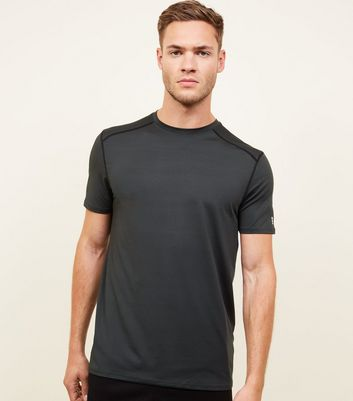 Dark Green Sports Stretch T-Shirt