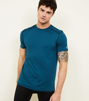 T-shirt de sport stretch bleu vif