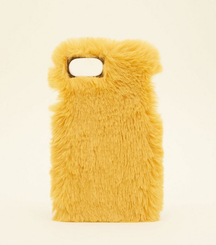 save off 8c01d 06043 Mustard Faux Fur iPhone 6/6s/7 Case Add to Saved Items Remove from Saved  Items