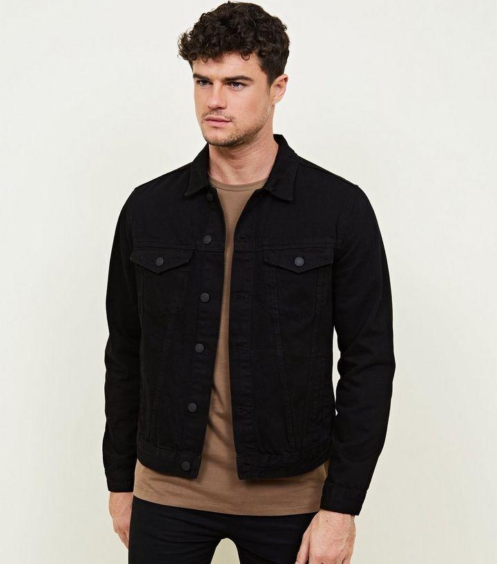 89db778a4537 Black Denim Jacket | New Look