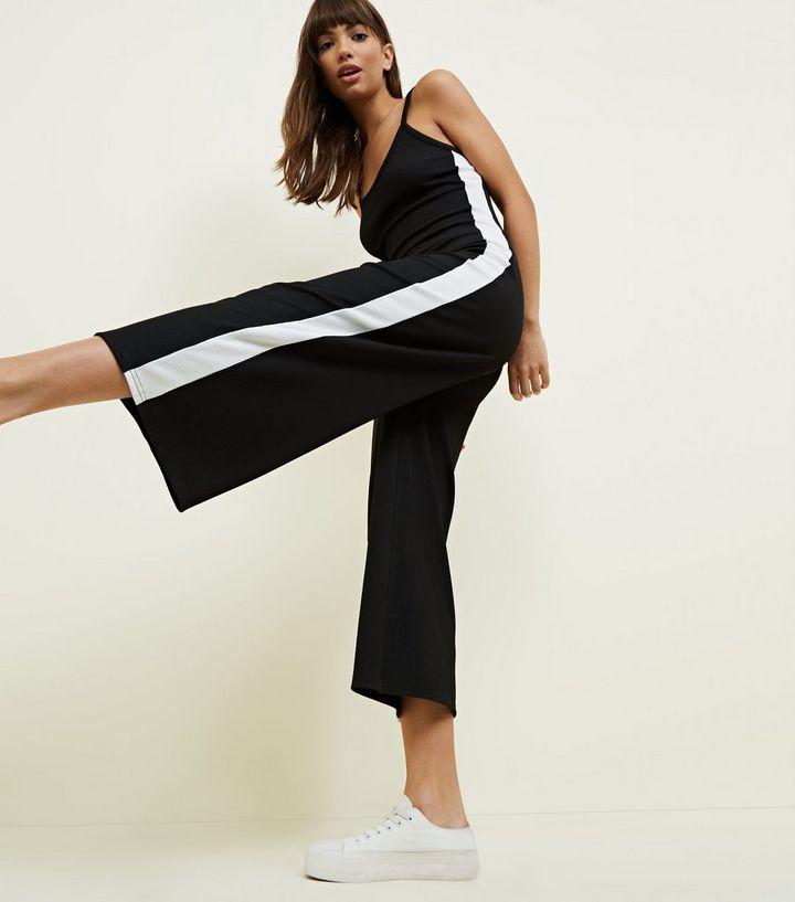b1b9c04b682 ... Black Ribbed Side Stripe Jumpsuit. ×. ×. ×. Shop the look