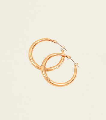 Gold Midi Hoop Earrings