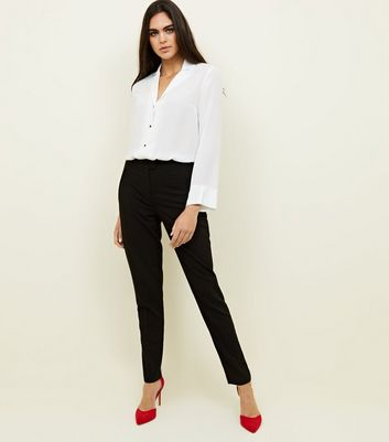 Tall Black Mid Rise Slim Leg Suit Trousers
