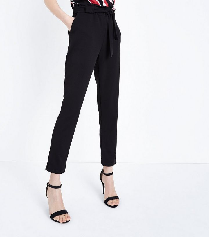 b2fde2bc898d3 ... Cameo Rose Black Belted Paperbag Waist Trousers. ×. ×. ×. Shop the look