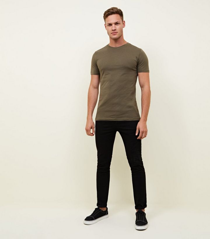 fbe6ebf43 ... 2 Pack Khaki and White Muscle Fit T-Shirts. ×. ×. ×. Shop the look