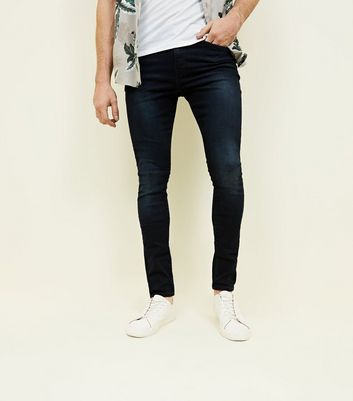 Navy Washed Skinny Jeans
