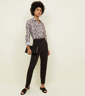 Tall Black Slim Leg Trousers