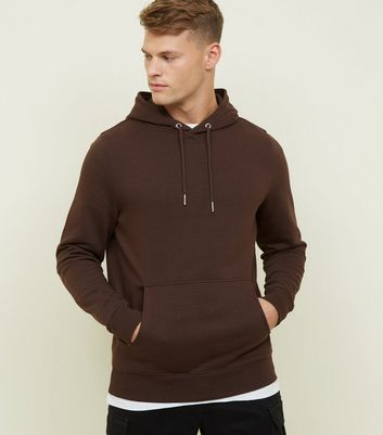Dark Brown Pocket Front Hoodie