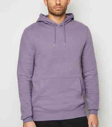 Deep Purple Pocket Front Hoodie