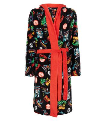 Multicoloured Marvel Print Dressing Gown