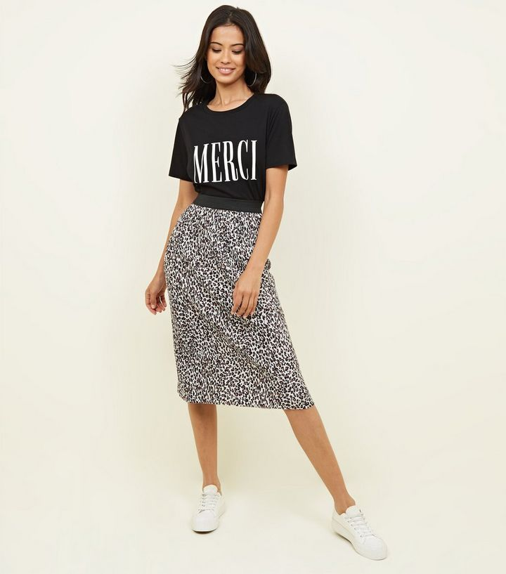 many fashionable shop for original great fit Brown Leopard Print Pleated Midi Skirt Add to Saved Items Remove from Saved  Items